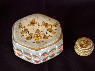 Large trinket box. 1960 - 1970s with small trinket box.