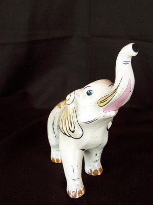Lovely 1960-1970s mexican papel mache elephant.