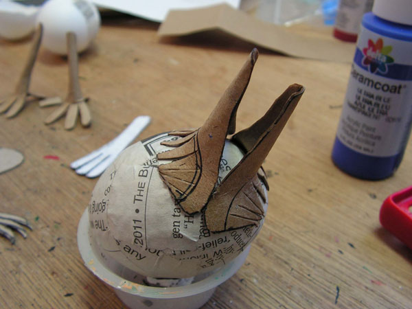 Papier Mache Tutorials A Cartonnage Bird