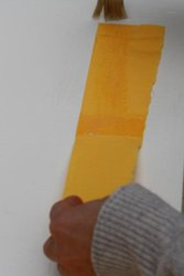 Laying the yellow paper
