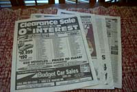 4 sheets of newspaper