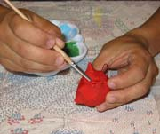 Painting your ornaments