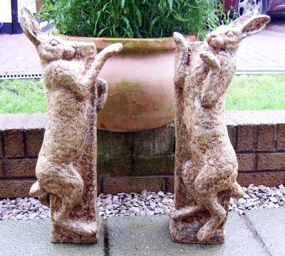 """Pair of Brown Hares Boxing"" by Diane Grey"
