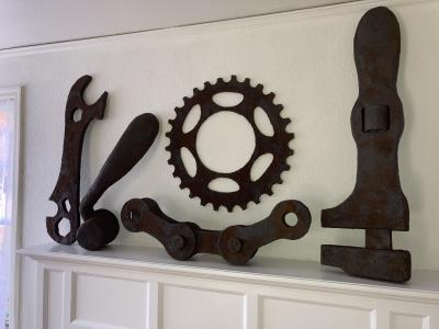 """Rusty Bicycle Parts & Tools"" by Richard Will"