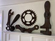 Rusty Bicycle Parts & Tools by Richard Will