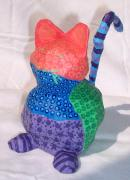chat multicolore by Anouk Pichat