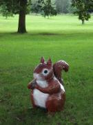 Red Squirrel at Arboretum by Jackie Hall