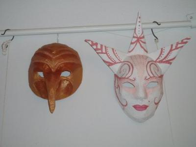 """Masks for the Night of Museums"" by Katherin Averko"