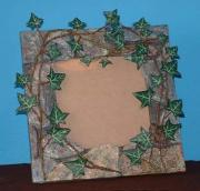 Ivy covered wall mirror/picture frame by Davey B