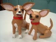 Two Chihuahuas by Diane Sarracino