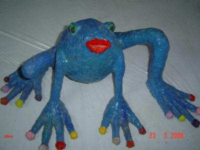 """Blue frog"" by Ziva Epstein"