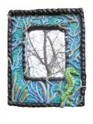 8X10 Seahorse mirror by Christina Colwell
