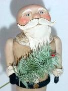 goose feather Santa by Janell Berryman