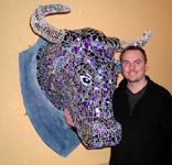 Steve with bull by Steve Glynn