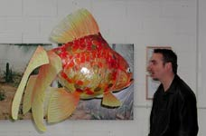 Steve with Goldfish by Steve Glynn