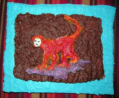 """Red Monkeyshines"" by Elsa Rubenstein"