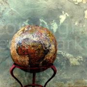Salvaged Earth Rustic Abstract Globe by Renee Parker