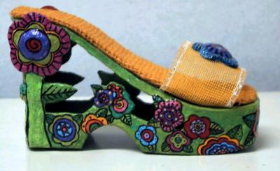 """flower shoe"" by Carol W"