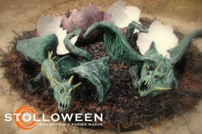"""Papier Mache Dragon (2008)"" by Scott A. Stoll"