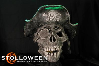 """Papier Mache Pirate Skull (2008)"" by Scott A. Stoll"
