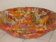 bowl with collage by Ruth Gal