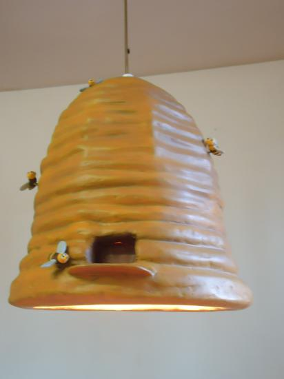 how to make a beehive out of paper mache
