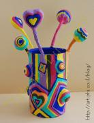 pencil holder by Dubinskaya Tatyana