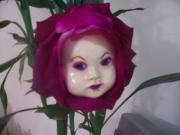 PURPLE FLOWERFACE by Dahlia Oren
