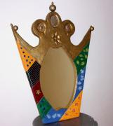Crown-style mirror by Dahlia Oren