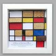 Framed pic of quadrilateral biscuits by Lorraine Berkshire-Roe