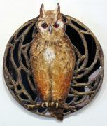 Horned Owl mirror by Antonia Galloway