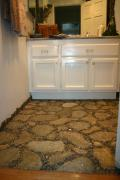 Paper Stone Floor w/ Pebble Grout by Linda Pozzuoli Merica