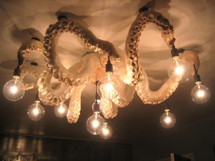 Octopus Chandelier By Meg Lemieur