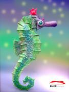 Sea horse 78x30x12 cm by Jose Tobar