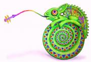 Chameleon 42x64 cm by Jose Tobar