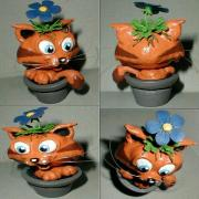 Potted Cat by Mark Patraw
