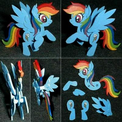 """Rainbow Dash 2.5D Snap-Together Model"" by Mark Patraw"