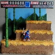 Ninja Gaiden Stage One Diorama by Mark Patraw