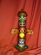 Totem Pole Desk Top Cannisters by Carolyn Bispels