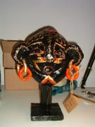 Mask On Pedestal by Carolyn Bispels