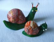 snails pair by Sharon Trott