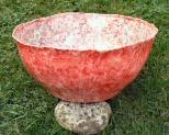 Salmon pink fruitbowl by Julie Whitham