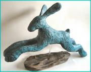 Very Large Verdigris Hare by Julie Whitham