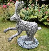 Very large Silver Hare by Julie Whitham