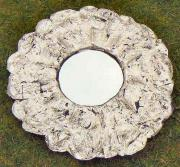 Silver flower mirror by Julie Whitham