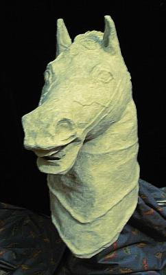 """Horse Head #3 of 6 (Click for details)"" by Patience"