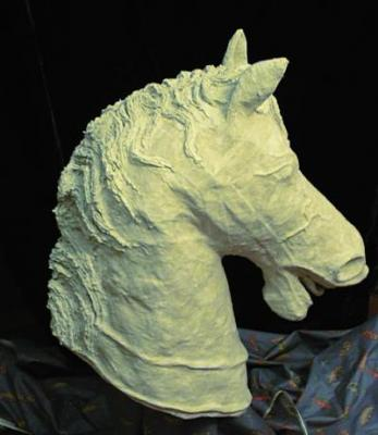 """Horse Head #5 of 6 (Click for details)"" by Patience"