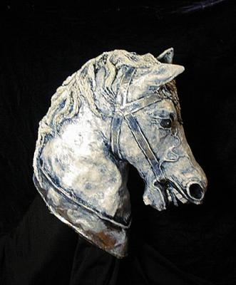 """Horse Head # 6, Painted and Finished"" by Patience"
