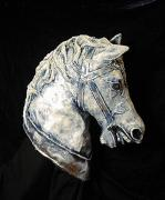 Horse Head # 6, Painted and Finished by Patience