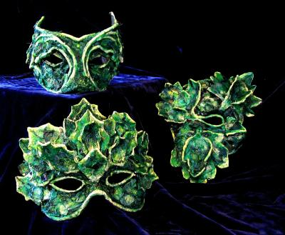 """""Green Man"" Masks"" by Patience"